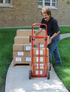ron stacking bibles