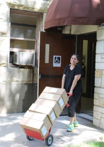 ally unloading bibles
